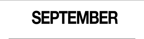 SEPTEMEBER